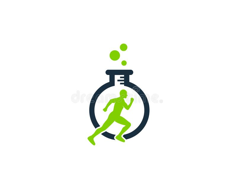 Research Run Logo Icon Design. This design can be used as a logo, icon or as a complement to a design stock illustration