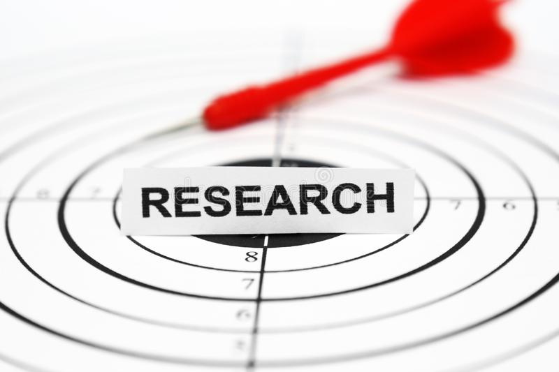 Research target concept royalty free stock image