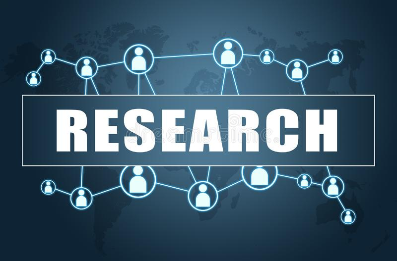 Research stock illustration