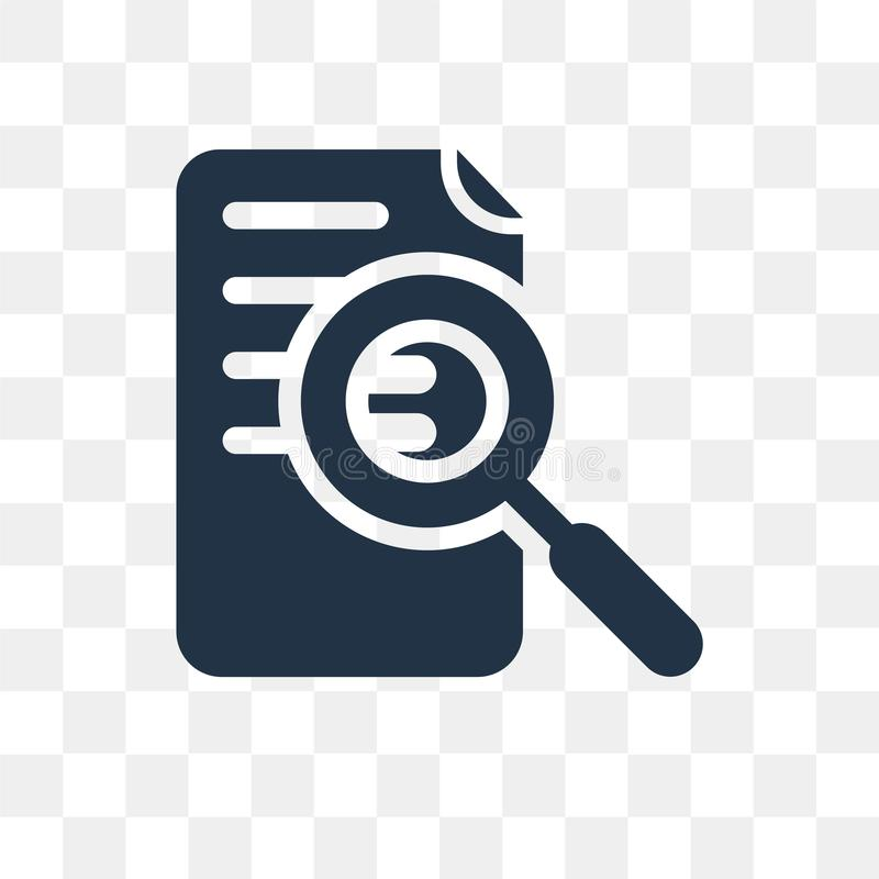 Research vector icon isolated on transparent background, Research transparency concept can be used web and mobile vector illustration