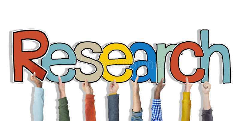 Research Word Concepts Isolated on Background.  royalty free stock photos