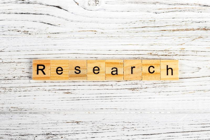RESEARCH word made with wooden blocks concept.  stock photos