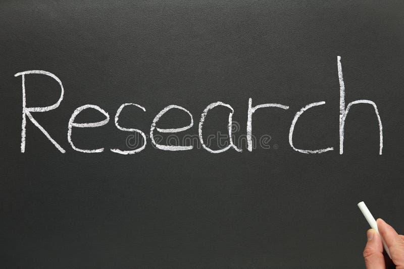 Research, written on a blackbo