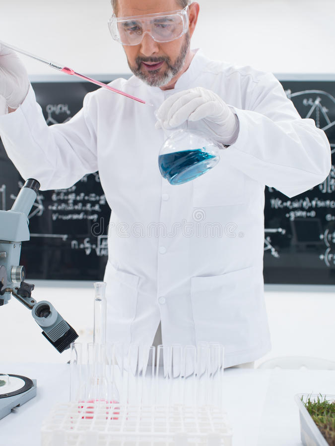 Researcher Conducting Experiment Royalty Free Stock Images