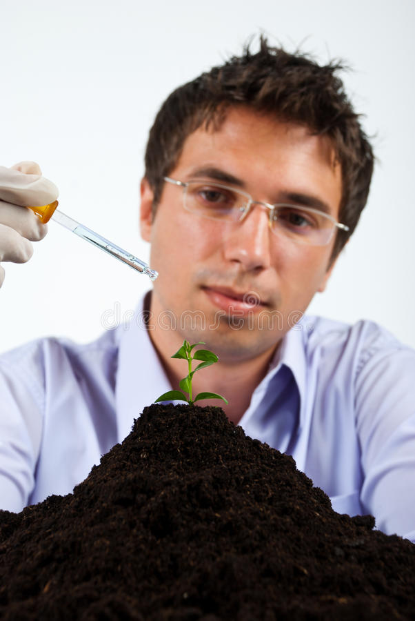 Researcher man in laboratory royalty free stock photos