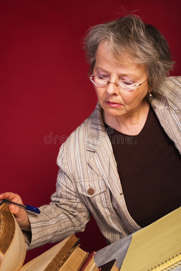 Download Researcher taking notes stock photo. Image of pensive - 4849494