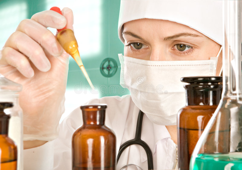 Researches In Laboratory Stock Images