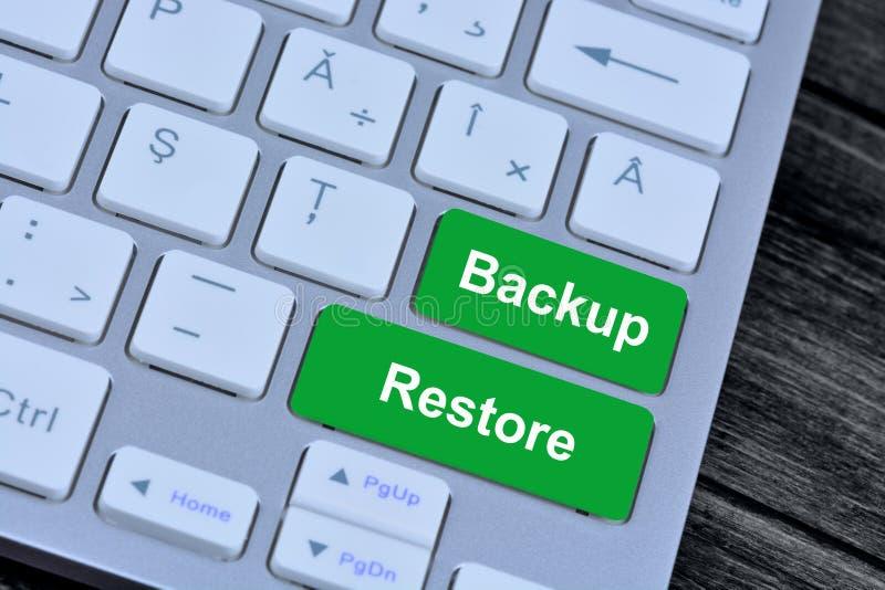 Reserv- återställande på tangentbordknappar arkivbilder