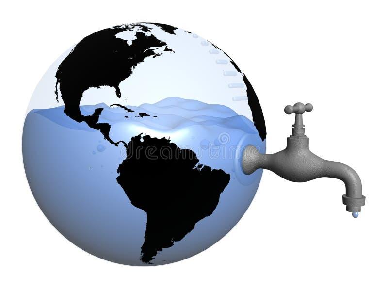 Reserva de água global ilustração stock