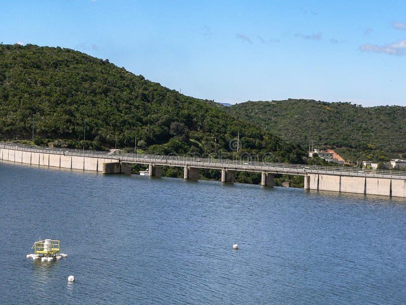 Reserva de agua artificial imágenes de archivo libres de regalías