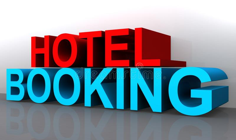 Reserva de hotel ilustração royalty free