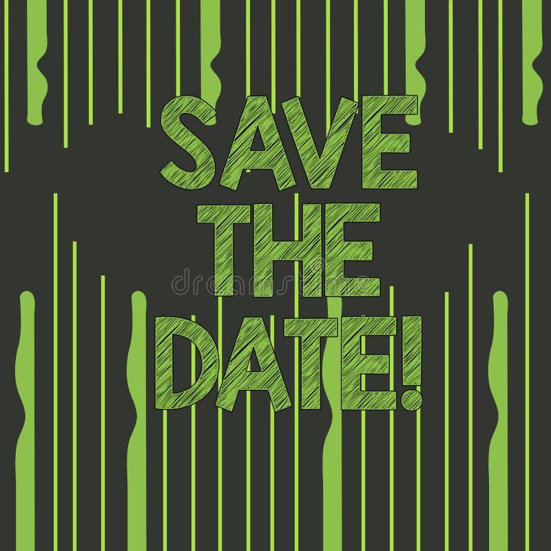 Reserva de la demostración de la muestra del texto la fecha Los acontecimientos de organización de la foto conceptual bien hacen  libre illustration