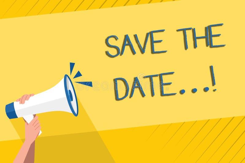 Reserva de la escritura del texto de la escritura la fecha Los acontecimientos de organización del significado del concepto bien  stock de ilustración