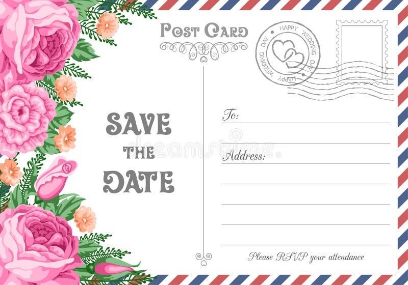 Reserva de la postal la fecha libre illustration
