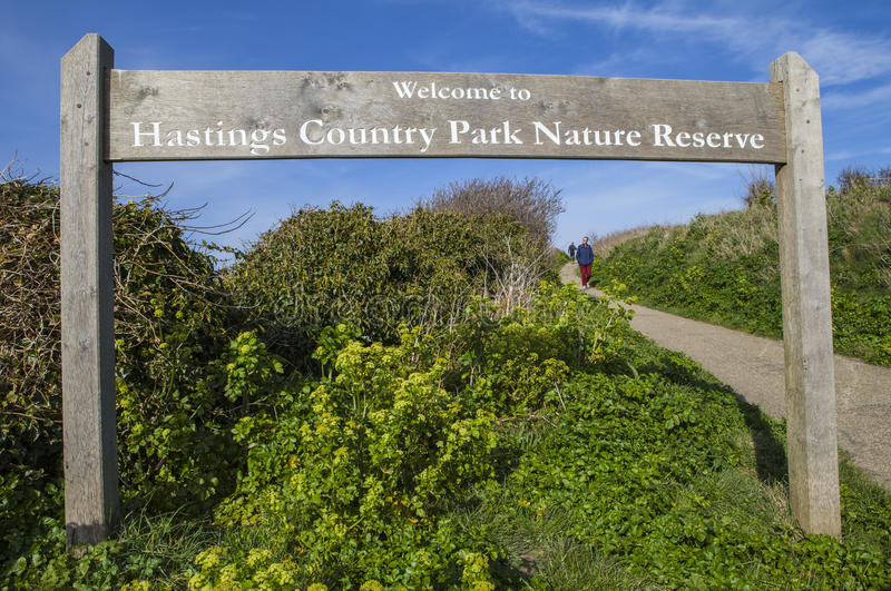 Reserva de naturaleza del parque del país de Hastings foto de archivo libre de regalías