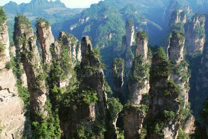 Reserva de Zhangjiajie fotografia de stock