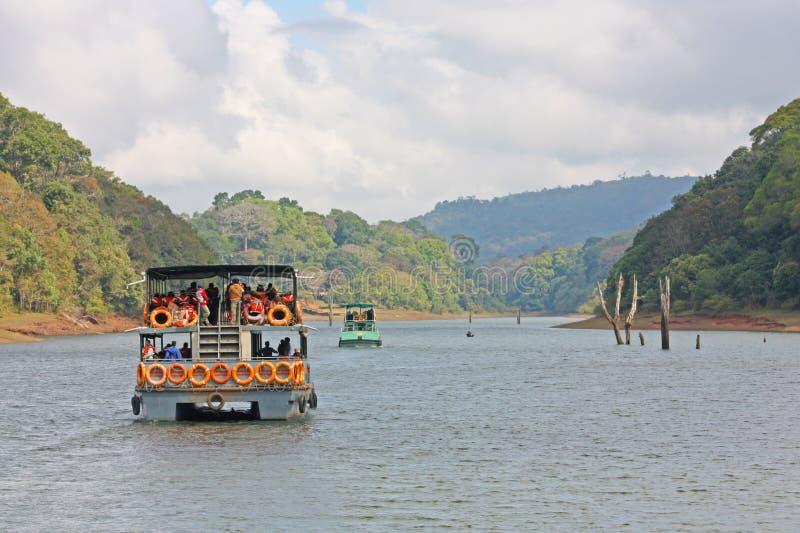 Reserva del lago Periyar fotos de archivo