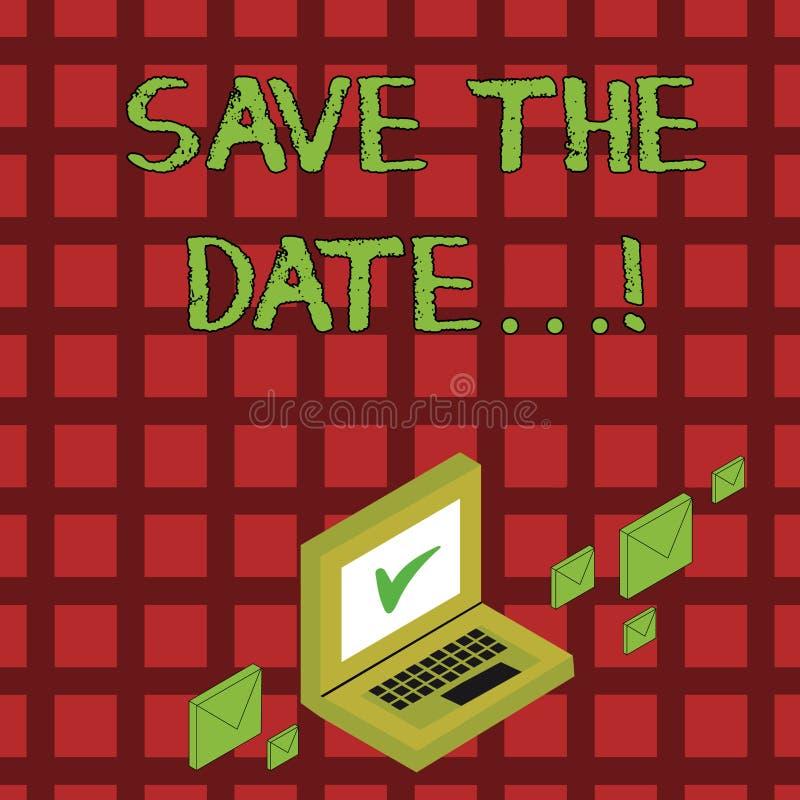Reserva del texto de la escritura la fecha Los acontecimientos de organización del significado del concepto hacen bien a organiza libre illustration