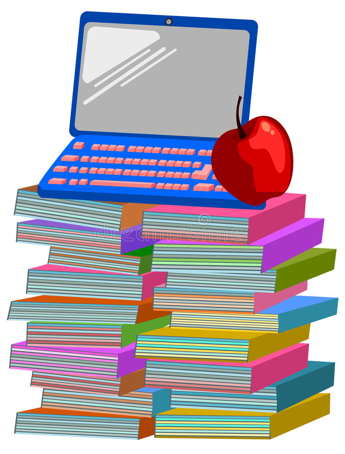 Reserva el ordenador portátil de la manzana libre illustration