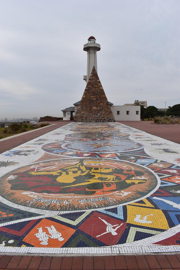 Reserva famosa de Donkin en Port Elizabeth, Suráfrica fotografía de archivo libre de regalías