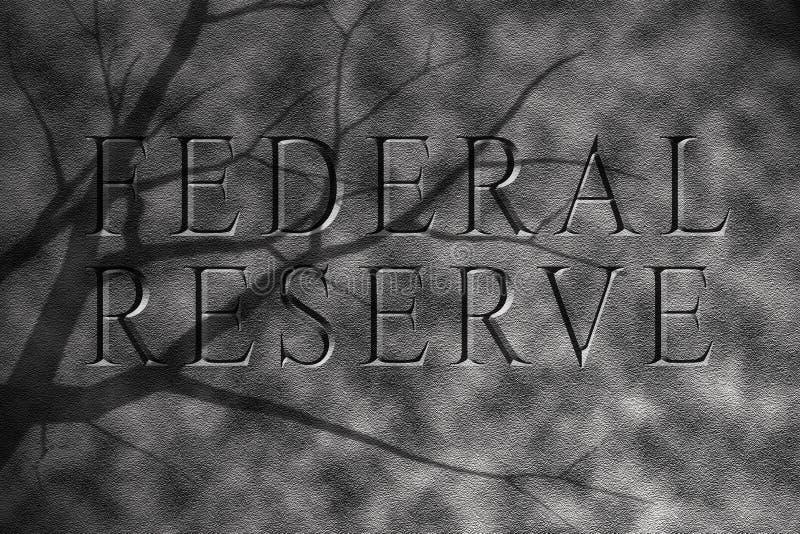 Reserva federal na pedra do granito ilustração do vetor