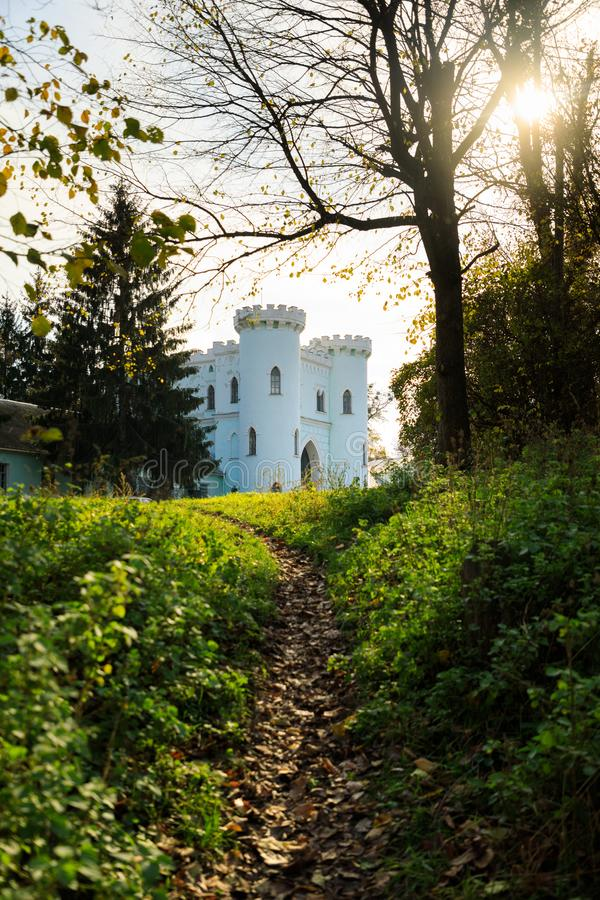 Reserva histórica y cultural del estado de Korsun-Shevchenkivsky en Ucrania en otoño imagen de archivo