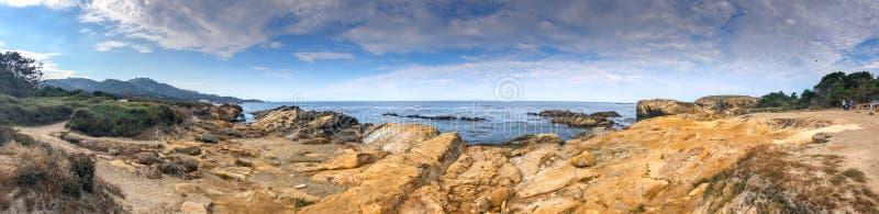 Reserva natural do estado de Lobos do ponto, Califórnia Vista panorâmica de fotos de stock royalty free