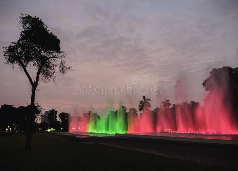 Reserva Park in Lima, Peru royalty free stock photos