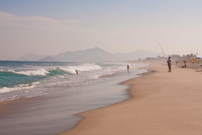 Reserva strand i Rio de Janeiro arkivbild
