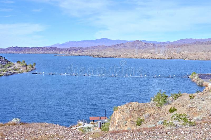 Reservas de água atrás de Parker Dam imagem de stock