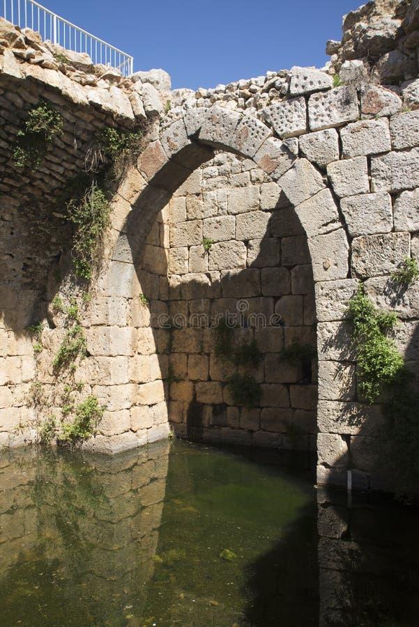 Reservas de água de Nimrod Fortress Ruins imagens de stock