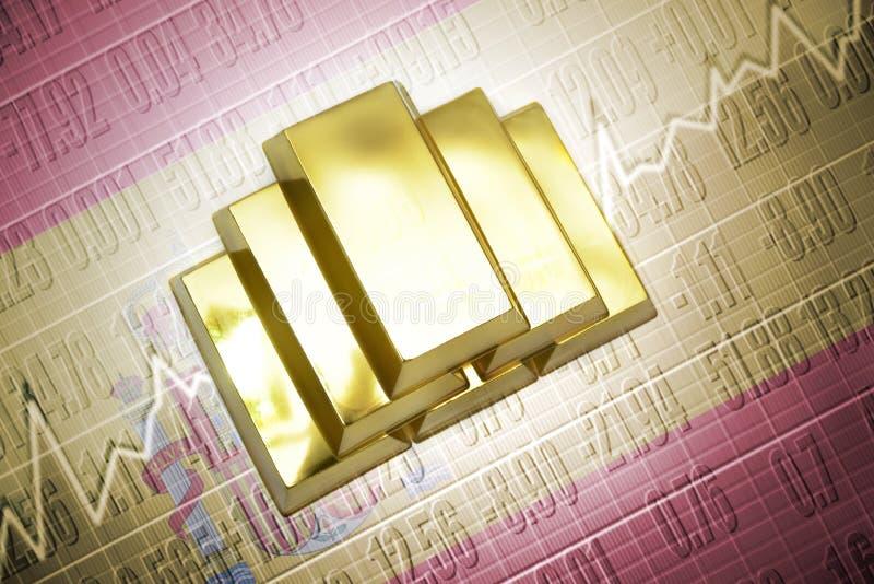Reservas de oro españolas stock de ilustración