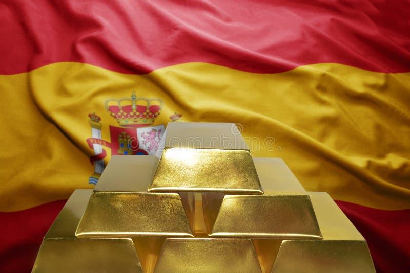 Reservas de oro españolas foto de archivo