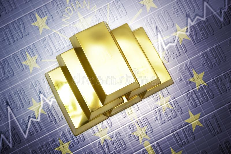 Reservas de oro de Indiana stock de ilustración