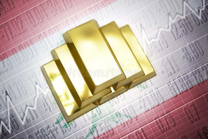 Reservas de oro libanesas stock de ilustración