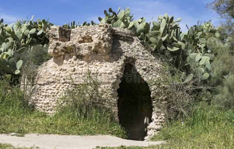 Reservatório bizantino da era no Negev ocidental imagens de stock