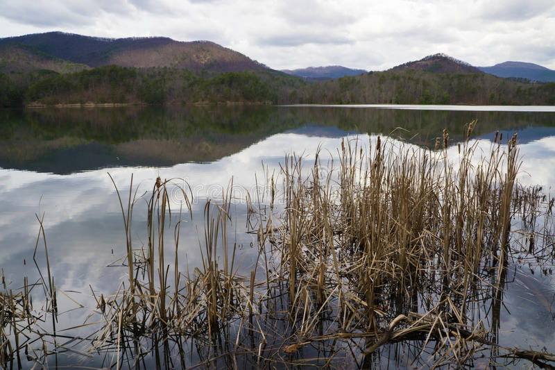 Reservatório da angra de Carvins, Roanoke, Virgínia, EUA imagem de stock