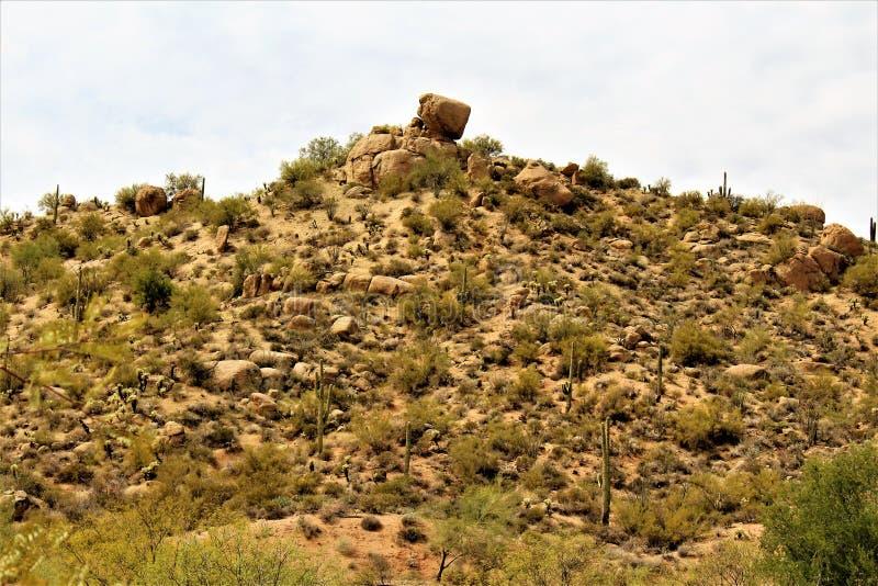 Reservatório de Bartlett Lake, Maricopa County, estado do Arizona, opinião cênico da paisagem do Estados Unidos imagem de stock