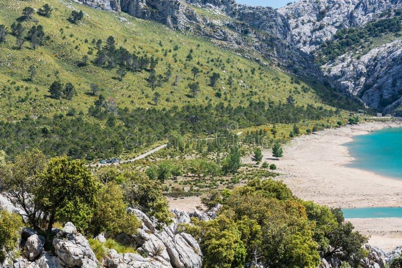 Reservatório de Cuber na serra de Tramuntana, Mallorca, Espanha imagem de stock