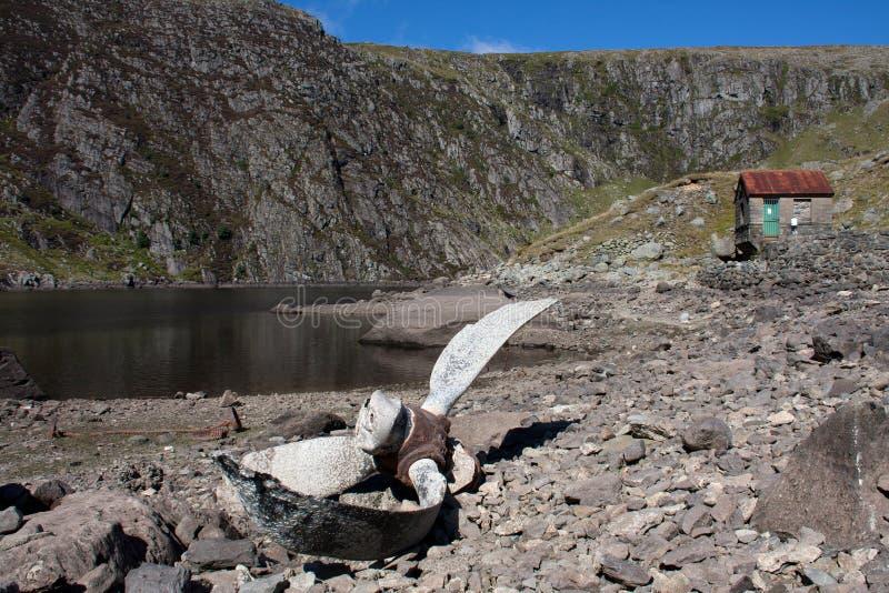 Reservatório de Llyn Dulyn fotografia de stock