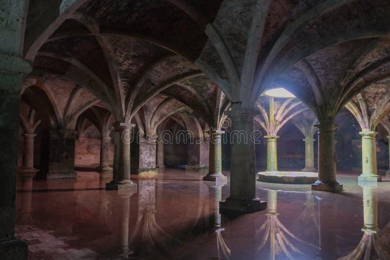 Reservatório subterrâneo português no Mazagan Cidade do EL Jadida, Marrocos foto de stock