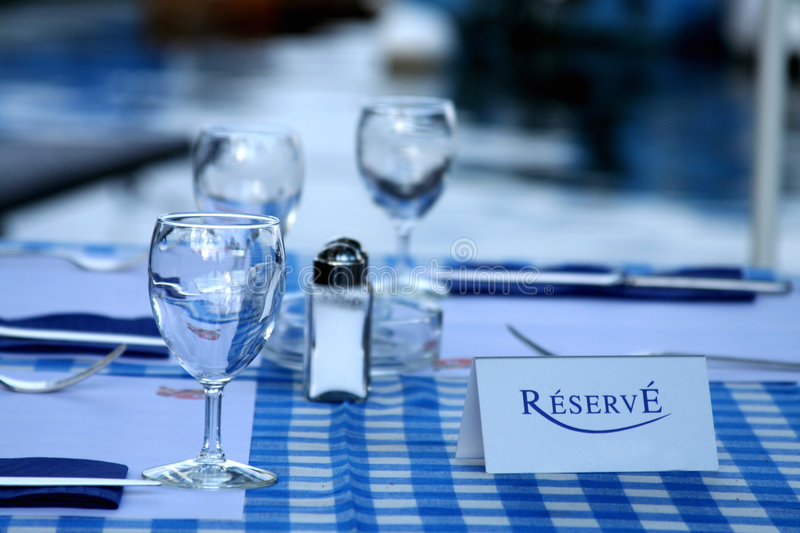 Reservation. Card on a Table stock photography