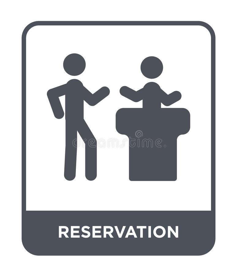 Reservation icon in trendy design style. reservation icon isolated on white background. reservation vector icon simple and modern. Flat symbol for web site vector illustration