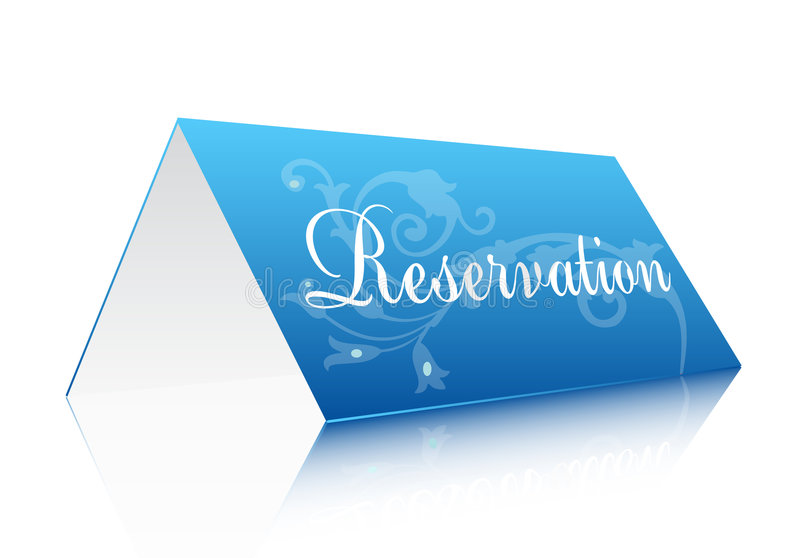 Download Reservation sign stock vector. Image of single, letter - 6705077