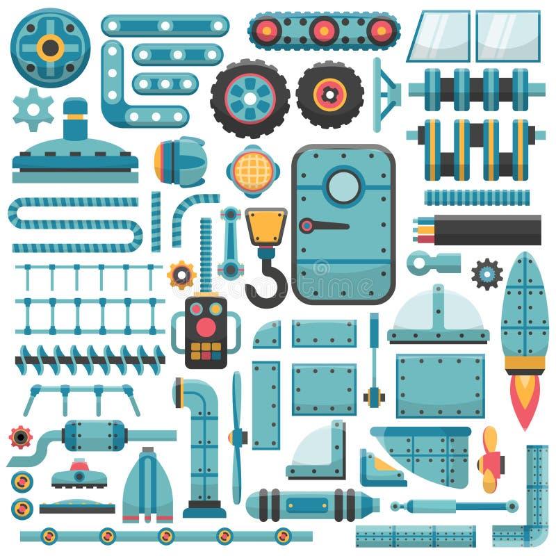 Reservdeluppsättning stock illustrationer