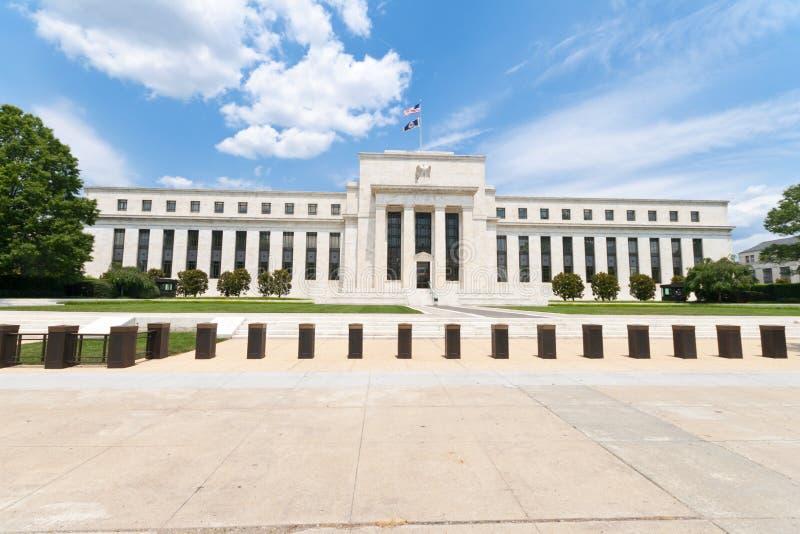Reserve Bank federal que construye el Washington DC los E.E.U.U. imagen de archivo libre de regalías