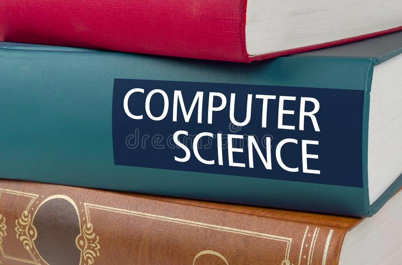 Reserve con el de informática del título escrita en la espina dorsal imagen de archivo libre de regalías