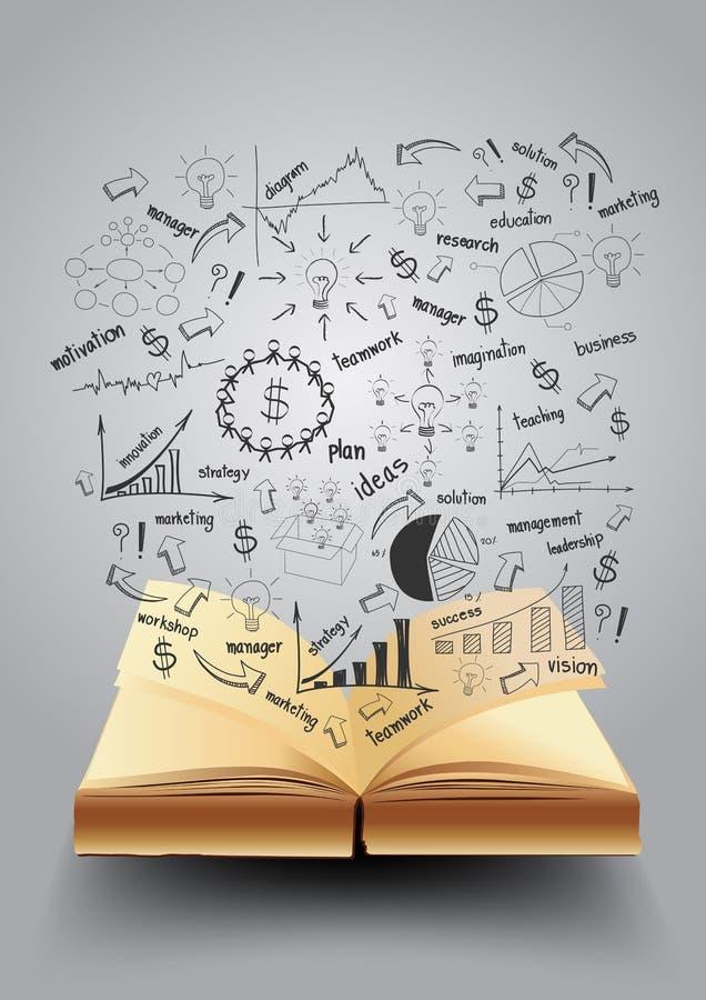 Libro Del Vector Con Concepto Del Plan De La Estrategia Empresarial ...