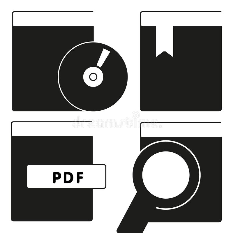 Reserve el vector del icono aislado en el fondo blanco, concepto del logotipo de la muestra del libro en el fondo transparente, s libre illustration