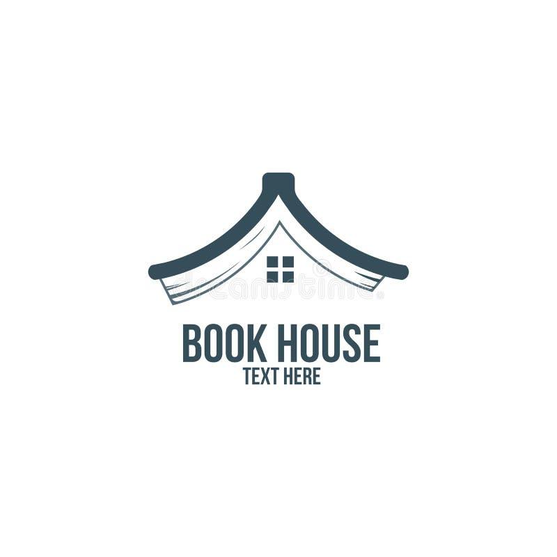 Reserve la casa, biblioteca, librería, empresa de negocios del logotipo stock de ilustración